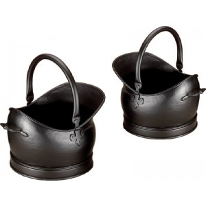Set Of 2 Kenley Coal Buckets (Medium & Large) - Black