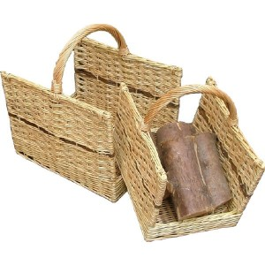 Set Of Open Ended  Log Baskets - Weave Willow