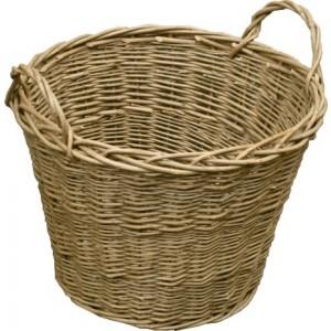 Wild Willow Log Basket - Wild Willo #LAST STOCKw#LAST STOCK #LAST STOCK