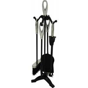 25'' Loop Top Companion Set - Black & Chrome Plated