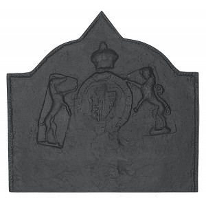 Medieval Large Cast Iron Fire Back 34.25'' wide - Cast Iron
