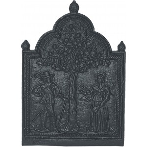 Tree of Life Cast Iron Fire Back 19.5'' wide - Cast Iron