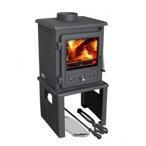 Europa Log Store - Suits Firefox 5 Multi Fuels Stove - Black