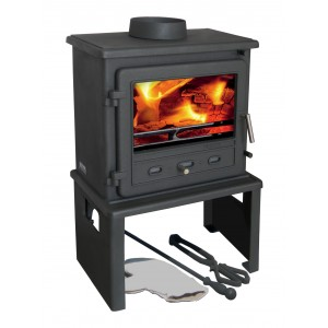 Europa Log Store - Suits Firefox 8 Multi Fuels Stove - Black