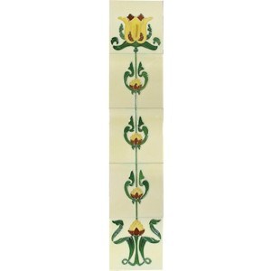 HEB051 / LGC083 Fireplace Tiles - Tube Lined (Set of 10)