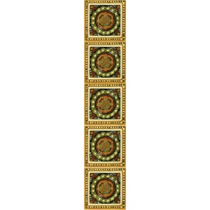 HEB234 / LGC095 Fireplace Tiles - Tube Lined (Set of 10)