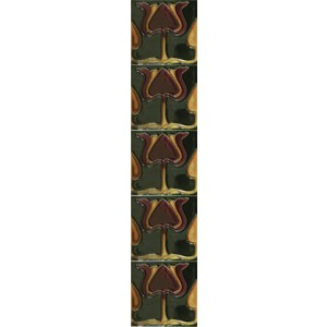LGC003 Tube Lined Fireplace Tiles (Set of 10)