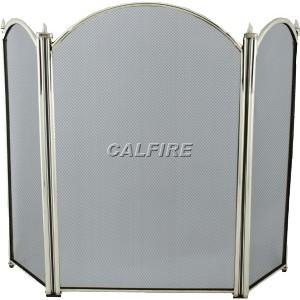 26'' 3 Fold Fire Screen - Brass Plated