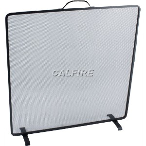 24'' Flat Square Fire Screen - The Noble Collection - Black