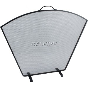 24.5'' Flat Fan Fire Screen - The Noble Collection - Black