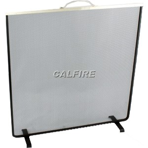 24'' Flat Square Fire Screen - The Noble Collection - Brass Trim