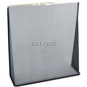 Custom Size Wedge Fire Screen - The Noble Collection - Brass Trim