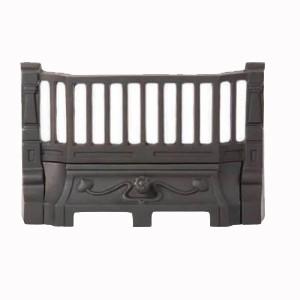 13.5'' Art Nouveau Cast Iron Fire Front - Black
