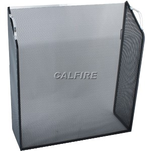 26'' Sloping Box Fire Screen - The Noble Collection - Aluminium Trim