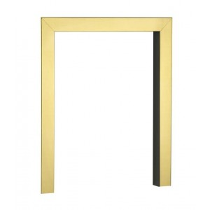 16'' Fire Trim 2'' Face 2'' Return - Brass With Black Return