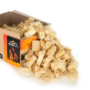 BURNACE Natural Wood Wool Eco Firelighters 2Kg (200 Pieces)