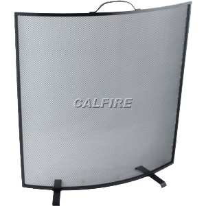24'' Curved Fire Screen - The Noble Collection - Black