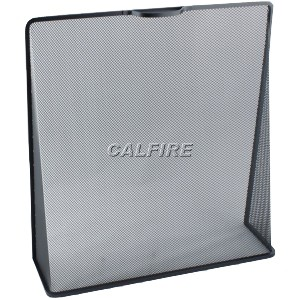 Custom Size Wedge Fire Screen - The Noble Collection - Black
