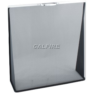 24'' Wedge Fire Screen - The Noble Collection - Aluminium Trim