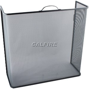 24'' Box Open Fire Screen - The Noble Collection - Black