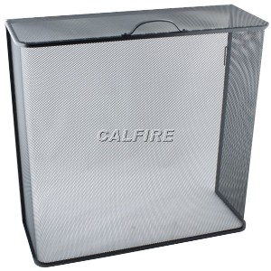 24'' Box Closed Fire Screen - The Noble Collection - Black