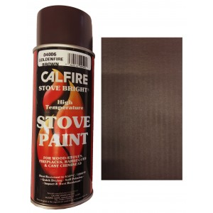 Stovebright High Temperature Paint - 6230 (400ml Aerosol) - Goldenfire Brown