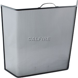 24'' Bent Fire Screen - The Noble Collection - Black