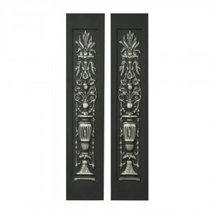 Lilly Urn Cast Iron Highlighted Fireplace Sleeves (2 Sleeves)