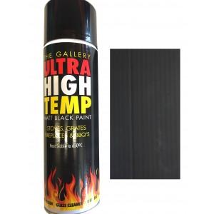 Matt Black High Temperature Paint (250ml)