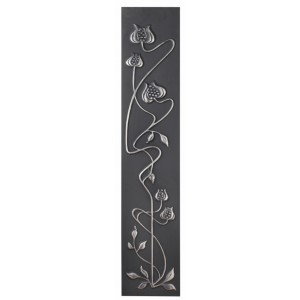 Mediterranean Poppy Highlighted Cast Iron Fireplace Sleeves (2 Sleeves)
