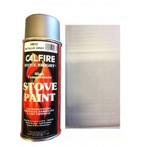 Stovebright High Temperature Paint - 6193 (400ml Aerosol) - Metallic Grey
