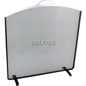 24'' Arched Top Fire Screen - The Noble Collection - Aluminium Trim