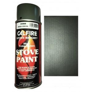 Stovebright High Temperature Paint - 6197 (400ml Aerosol) - Metallic Moss Green