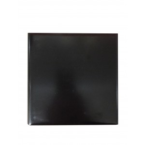 Basalt Ebony Black Hearth Tiles (RE - 1 Curved Edge)