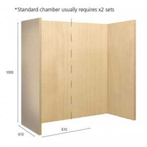 Set Of 2 Fireboards (Reeded Pattern) - 1000mm X 610mm X 25mm