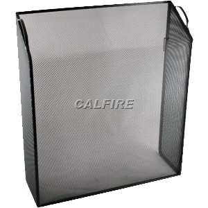 Custom Size Sloping Box Fire Screen - The Noble Collection - Black