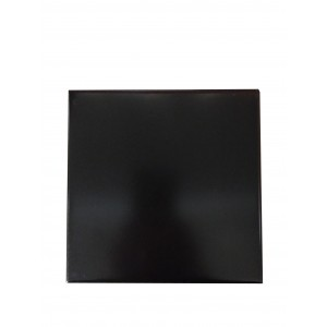 Basalt Ebony Black Hearth Tiles (Straight Edges)