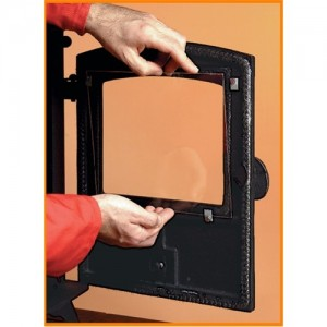 Stove Glass For The Stockton 11 (2 Door) Stove From Stovax - 4mm Ceramic Glass