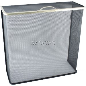 24'' Box Closed Fire Screen - The Noble Collection - Brass Trim