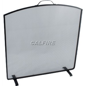 24'' Arched Top Fire Screen - The Noble Collection - Black