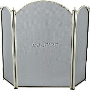 29'' 3 Fold Fire Screen - Brass Plated