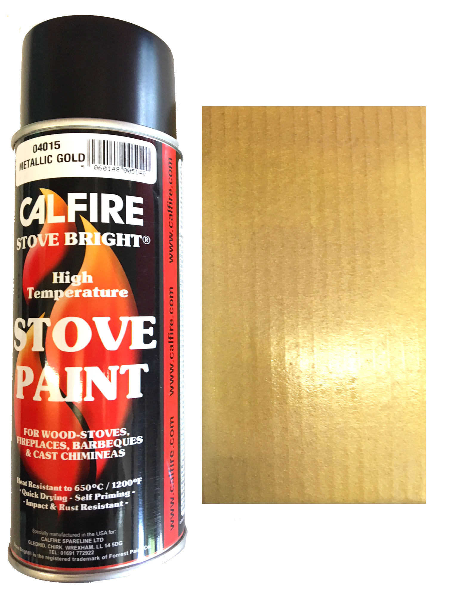 Stovebright High Temperature Paint 6302 400ml Aerosol Gold 5060148005140 Ebay